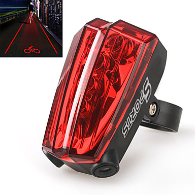 Eclairage de Vélo / bicyclette Lampe Arrière de Vélo Laser LED Cyclisme Laser AAA Lumens Batterie Cyclisme