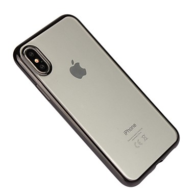 Case For Apple iPhone X iPhone 8 Shockproof Plating Transparent Back Cover Solid Color Soft TPU for iPhone X iPhone 8 Plus iPhone 8