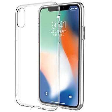 Etui Käyttötarkoitus Apple iPhone X iPhone X Ultraohut Läpinäkyvä Takakuori Läpinäkyvä Pehmeä TPU varten iPhone X