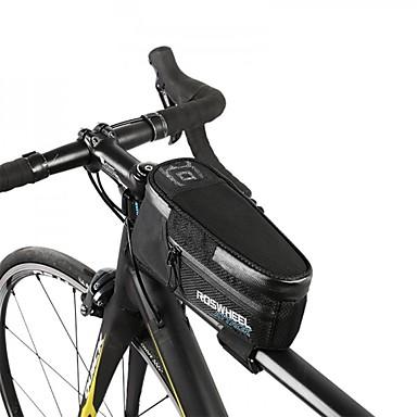 ROSWHEEL Bike Bag 1.5L Bike Frame Bag Waterproof Zipper Bicycle Bag ...