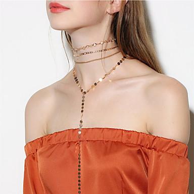 Pentru femei Coliere Choker Coliere cu Pandativ Lănțișoare Bijuterii Cristal Personalizat De Bază Euramerican stil minimalist Nuntă