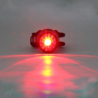お買い得  自転車用ライト-LED 自転車用ライト 後部バイク光 安全ライト テールランプ LED マウンテンサイクリング サイクリング きらきら 複数のモード リチウム 180 lm 内蔵リチウム電池駆動 レッド キャンプ / ハイキング / ケイビング サイクリング