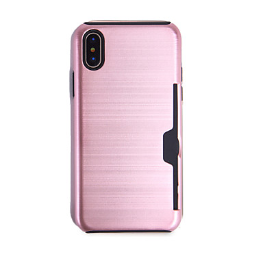 Apple di iPhone Porta iPhone Integrale TPU Custodia unita credito X Per 06409675 per 8 iPhone iPhone carte Plus X Resistente Tinta 8 qwIC5Yx