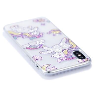 iPhone per IMD iPhone TPU X Per Glitterato iPhone Unicorno disegno Morbido 8 Apple iPhone iPhone 06448292 Plus 8 retro X Per 8 Custodia Fantasia qZ4FEx