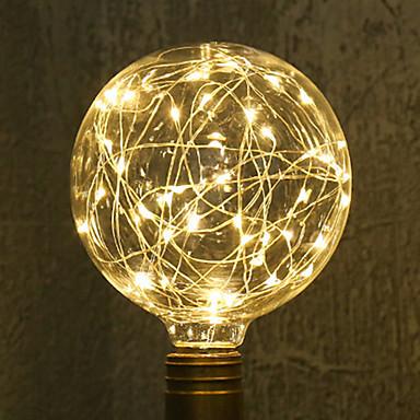 1szt 3W 200lm E26 / E27 Żarówka dekoracyjna LED G95 33 Koraliki LED SMD Gwiaździsty Dekoracyjna Ciepła biel 85-265V