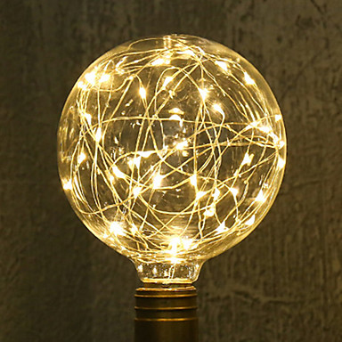 1kpl 3W 200lm E26 / E27 LED-hehkulamput G95 33 LED-helmet SMD Tähtikirkas Koristeltu Lämmin valkoinen 85-265V