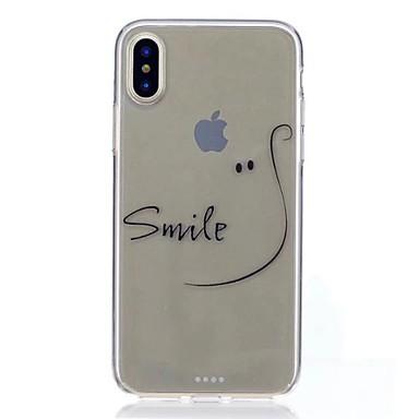 Maska Pentru Apple iPhone X iPhone 8 Model Capac Spate Cuvânt / expresie Moale TPU pentru iPhone X iPhone 8 Plus iPhone 8 iPhone 7 Plus