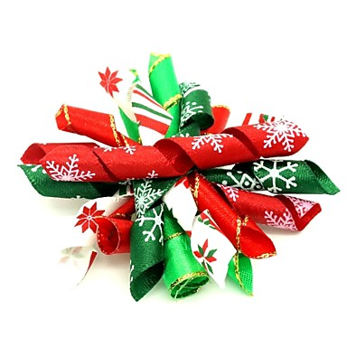Cat Dog Costume Hats Caps & Bandanas Hair Accessories Dog Clothes Stylish Flower Style Christmas Leaf Snowflake Random Color Costume For