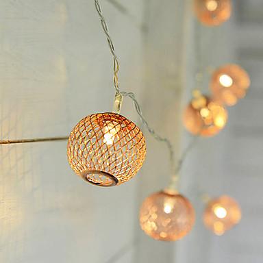 Verlichtingsslingers 10 LEDs Warm wit <5V