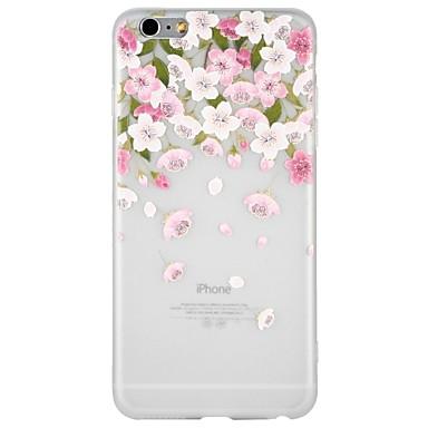 Case Kompatibilitás Apple iPhone 8 / iPhone 8 Plus / iPhone 7 Dombornyomott / Minta Fekete tok Rajzfilm / Virág Puha TPU mert iPhone 8 Plus / iPhone 8 / iPhone 7 Plus