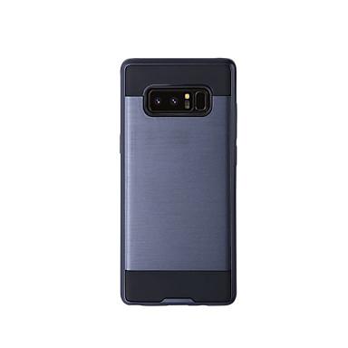 Недорогие Чехлы и кейсы для Galaxy Note 4-Кейс для Назначение SSamsung Galaxy Note 8 / Note 5 / Note 4 Защита от удара Чехол Однотонный Твердый ТПУ