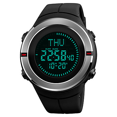 SKMEI Pánské Sportovní hodinky Náramkové hodinky Digitální hodinky japonština Digitální Z umělé kůže Černá 50 m Voděodolné Alarm Kalendář Digitální Luxus Na běžné nošení - Černá Červená Jeden rok