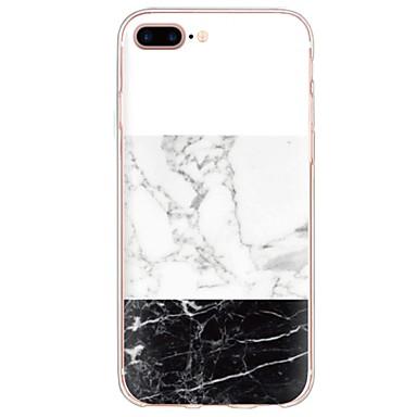 voordelige iPhone 5 hoesjes-hoesje Voor iPhone 7 / iPhone 7 Plus / iPhone 6s Plus iPhone 8 Plus / iPhone 8 / iPhone SE / 5s Patroon Achterkant Marmer Zacht TPU