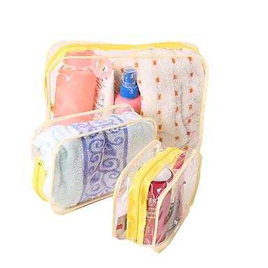 حقيبة أدوات تجميل للسفر منظم أغراض السفر حقيبة مستحضرات التجميل مقاوم للماء تخزين السفر سميك متعددة الوظائف إلى ملابس بلاستيك PVC / السفر