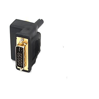 DVI Adaptor, DVI to 3RCA Adaptor Bărbați-Damă 1080P Placată cu aur 1.0 Gbps