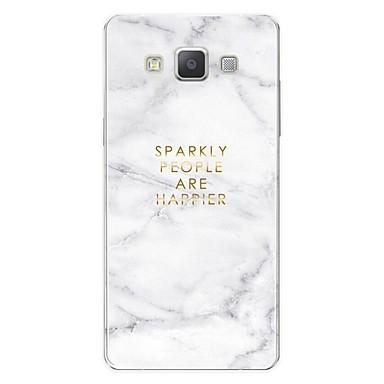 voordelige Galaxy S-serie hoesjes / covers-hoesje Voor Samsung Galaxy S / A3 (2017) / A5 (2017) Patroon Achterkant Woord / tekst / Marmer Zacht TPU