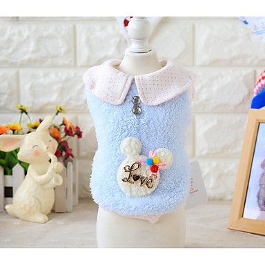 Dog Vest Dog Clothes Letter & Number Blue Pink Other Material Costume For Pets Men's Women's Casual / Daily