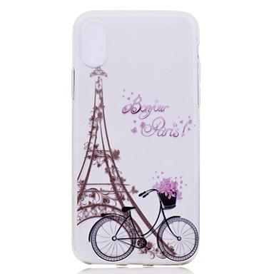 voordelige iPhone 6 hoesjes-hoesje Voor Apple iPhone XS / iPhone XR / iPhone XS Max Transparant / Patroon Achterkant Landschap / Eiffeltoren Zacht TPU