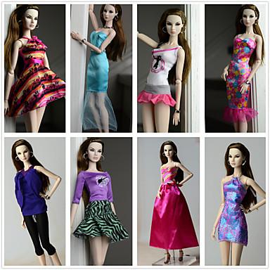 Prenses Kostümler İçin Barbie Bebek Polyester Elbise İçin Kız Oyuncak bebek