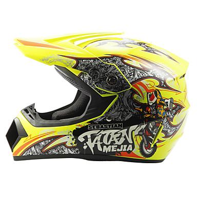 billige Tilbehør til motorcykler og AV-køretøjer-ahp 225 motorcykel motocross hjelm voksne off-road hjelm fuld face racing stil dæmpning / holdbar fluorescerende gul