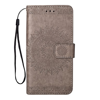 voordelige Galaxy Note 5 Hoesjes / covers-hoesje Voor Samsung Galaxy Portemonnee / Kaarthouder / met standaard Effen Hard PU-nahka