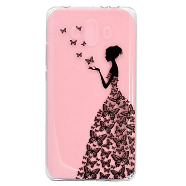 voordelige Huawei Mate hoesjes / covers-hoesje Voor Huawei Mate 10 / Mate 10 pro / Mate 10 lite Transparant / Patroon Achterkant Sexy dame Zacht TPU