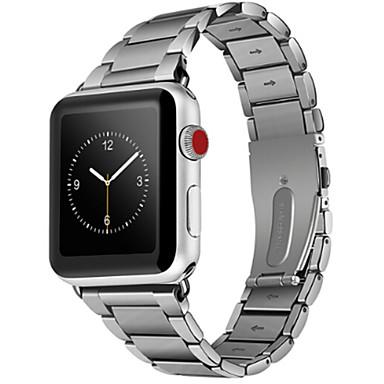 Недорогие Аксессуары для смарт-часов-Ремешок для часов для Apple Watch Series 4/3/2/1 Apple Классическая застежка Нержавеющая сталь Повязка на запястье