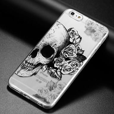 케이스 제품 Apple iPhone X iPhone 8 iPhone 6 iPhone 6 Plus IMD 울트라 씬 투명 패턴 뒷면 커버 해골 소프트 TPU 용 iPhone X iPhone 8 Plus iPhone 8 iPhone 6s Plus