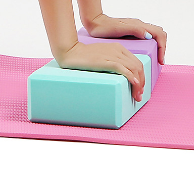 Τουβλάκι γιόγκα 1 pcs Υψηλής πυκνότητας, Αδιάβροχο, Ελαφριά EVA Υποστήριξη και βαθύτατες θέσεις, Ισορροπία ενισχύσεων και ευελιξία Για την Πιλάτες / Fitness / Γυμναστήριο Βυσσινί, Μπλε, Ροζ