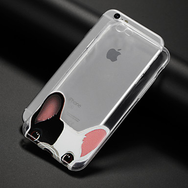 Case Kompatibilitás Apple iPhone 5 tok iPhone 6 iPhone 7 Minta Fekete tok Kutya Puha TPU mert iPhone 7 Plus iPhone 7 iPhone 6s Plus