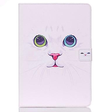 voordelige Samsung Tab-serie hoesjes / covers-hoesje Voor Samsung Galaxy Portemonnee / Kaarthouder / met standaard Volledig hoesje Kat Hard PU-nahka