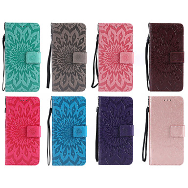 Недорогие Чехлы и кейсы для Nokia-Кейс для Назначение Nokia Nokia 9 / Nokia 8 / Nokia 6 Кошелек / Бумажник для карт / со стендом Чехол Мандала Твердый Кожа PU