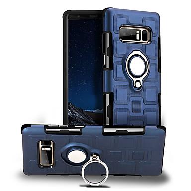 voordelige Galaxy Note-serie hoesjes / covers-hoesje Voor Samsung Galaxy Note 8 360° rotatie / Schokbestendig / Ringhouder Achterkant Effen Hard PC