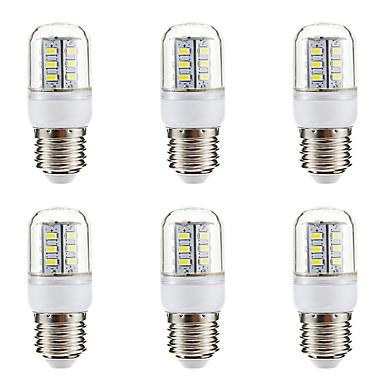 BRELONG® 6pcs 3W 270lm E14 E26 / E27 LED Mais-Birnen 24 LED-Perlen SMD 5730 Warmes Weiß Weiß 220-240V