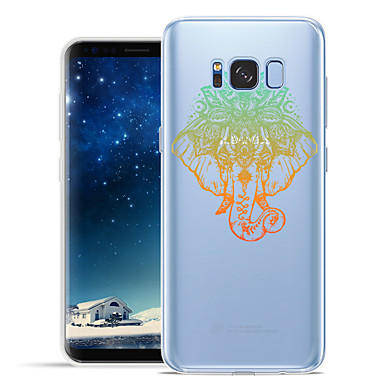 Недорогие Чехлы и кейсы для Galaxy S6 Edge-Кейс для Назначение SSamsung Galaxy S8 Plus / S8 / S7 edge С узором Кейс на заднюю панель Животное / Слон Мягкий ТПУ