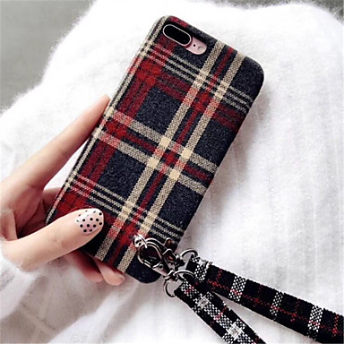 voordelige iPhone-hoesjes-hoesje Voor Apple iPhone X / iPhone 8 Plus / iPhone 8 Patroon Achterkant Effen Zacht tekstiili