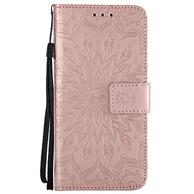 cheap Galaxy A3 Cases / Covers-Case For Samsung Galaxy A3(2017) / A5(2017) / A8 2018 Wallet / Card Holder / with Stand Full Body Cases Mandala Hard PU Leather