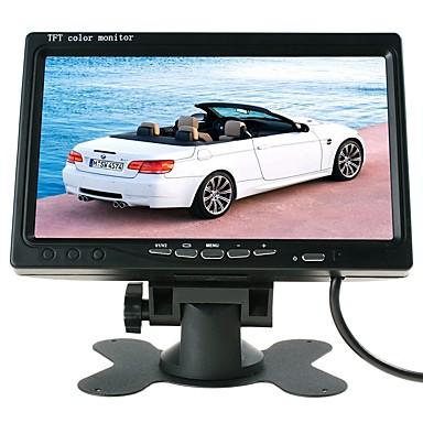 billige Bil Bakspejl Kamera-ziqiao 7 tommer farve lcd hovedstøtte bil parkering bagfra skærm med 2 videoindgang 2 av i til dvd vcr vendekamera