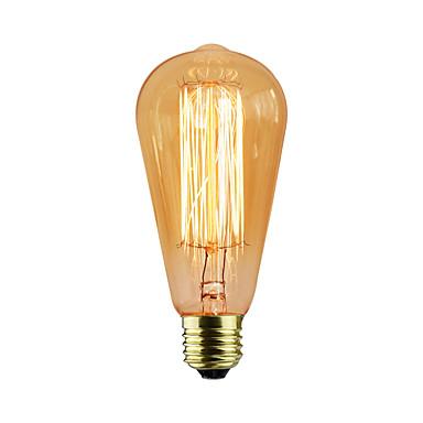 e27 60w st58 ευθεία καλωδίωση edison θηλή βολφράμιο art φωτισμός διακόσμηση πηγή φωτός