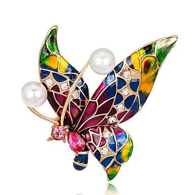 Women's Brooches - Butterfly Ladies, Vintage Brooch Jewelry Red,Blue,Purple For Party / Daily