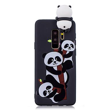 Недорогие Чехлы и кейсы для Galaxy S6 Edge-Кейс для Назначение SSamsung Galaxy S9 / S9 Plus / S8 Plus С узором Кейс на заднюю панель Панда Мягкий ТПУ