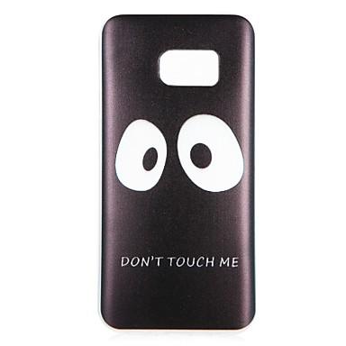 voordelige Galaxy S-serie hoesjes / covers-hoesje Voor Samsung Galaxy S8 Plus / S8 / S7 edge Patroon Achterkant Woord / tekst / Cartoon Zacht TPU