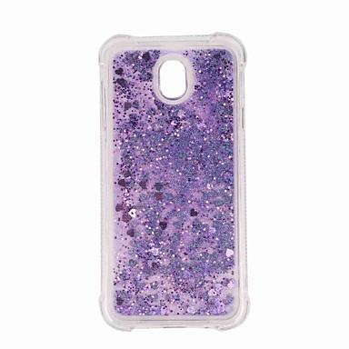 voordelige Galaxy J-serie hoesjes / covers-hoesje Voor Samsung Galaxy J7 (2017) / J7 (2016) / J7 Schokbestendig / Glitterglans Achterkant Glitterglans / Kleurgradatie Zacht TPU