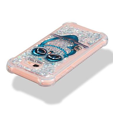 voordelige Galaxy A-serie hoesjes / covers-hoesje Voor Samsung Galaxy A3 (2017) / A5 (2017) / A7 (2017) Schokbestendig / Stromende vloeistof / Patroon Achterkant Uil / Glitterglans Zacht TPU