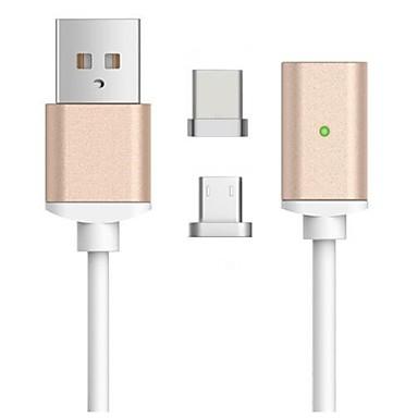 halpa Kaapelit ja adapterit-Mikro USB / C-tyypin Kaapeli 1m-1.99m / 3ft-6ft 41641.0 / Korkea nopeus / pikalataus TPE USB-kaapelisovitin Käyttötarkoitus Samsung / Huawei / LG