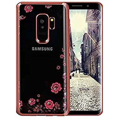 voordelige Galaxy S-serie hoesjes / covers-hoesje Voor Samsung Galaxy S9 / S9 Plus / S8 Plus Strass / Ultradun Achterkant Bloem Zacht TPU