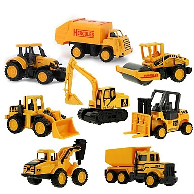 Mini Alloy engineering Car Truck Construction Truck Set Toy Truck Construction Vehicle Toy Car 1:64 8 pcs Kid's Boys' Girls' Toy Gift