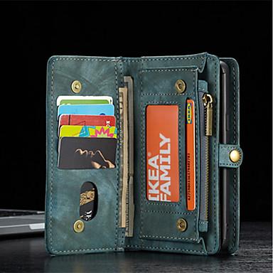 voordelige Galaxy S-serie hoesjes / covers-hoesje Voor Samsung Galaxy S9 / S9 Plus / S8 Plus Portemonnee / Kaarthouder / Schokbestendig Volledig hoesje Effen Hard aitoa nahkaa