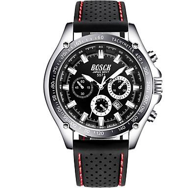 Χαμηλού Κόστους Ανδρικά ρολόγια-Ανδρικά Καθημερινό Ρολόι Ιαπωνικά Χαλαζίας Συνθετικό δέρμα με επένδυση Μαύρο / Λευκή 30 m Ημερολόγιο Αναλογικό Μοντέρνα - Μπλε Μαύρο / Λευκό Μαύρο / Ασημί