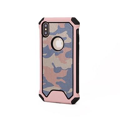voordelige iPhone 6 hoesjes-hoesje Voor Apple iPhone X / iPhone 8 Plus / iPhone 8 Schokbestendig Achterkant Effen / Camouflage Kleur Zacht Siliconen